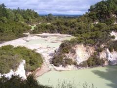 ワイオタプ地熱地帯の風景