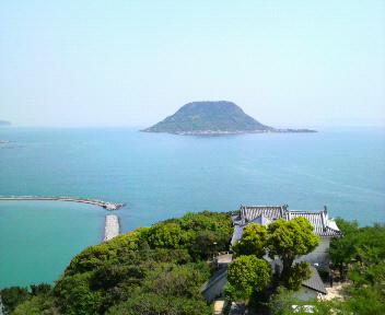 唐津城からの高島